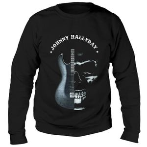 SWEATSHIRT Sweat Guitare Johnny Hallyday - Homme - Noir