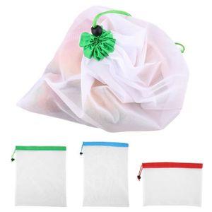 SAC DE CONSERVATION Sacs à légumes pour aller vert, zéro déchet,Toile