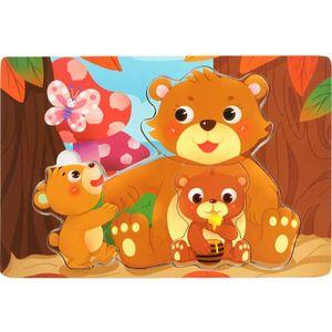 PUZZLE Puzzle de coloration cognitive d'animal en bois #