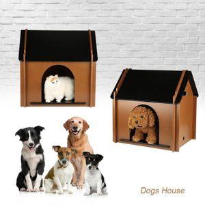 ACCESSOIRE ABRI ANIMAL Maison en bois pliable Tente pour animaux de compa
