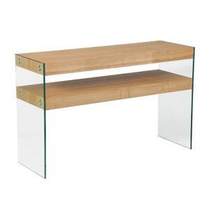 Console verre et bois achat vente console verre et bois pas cher cdiscount - Console en bois flotte ...