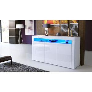 bahut laque blanc avec led achat vente bahut laque. Black Bedroom Furniture Sets. Home Design Ideas