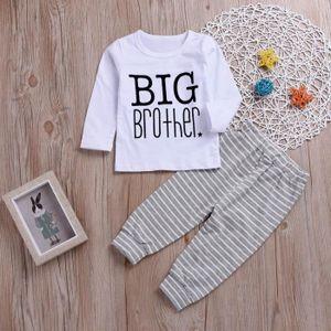 6f4ab037786f4 Ensemble de vêtements 2PCS Tout-petits enfants Lettre de bébé Imprimer V ...