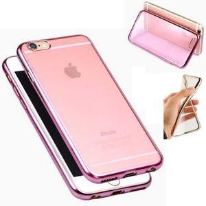 iphone 6 plus coque silicone rose