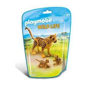 FIGURINE - PERSONNAGE PLAYMOBIL 6940 Léopard avec Bébés