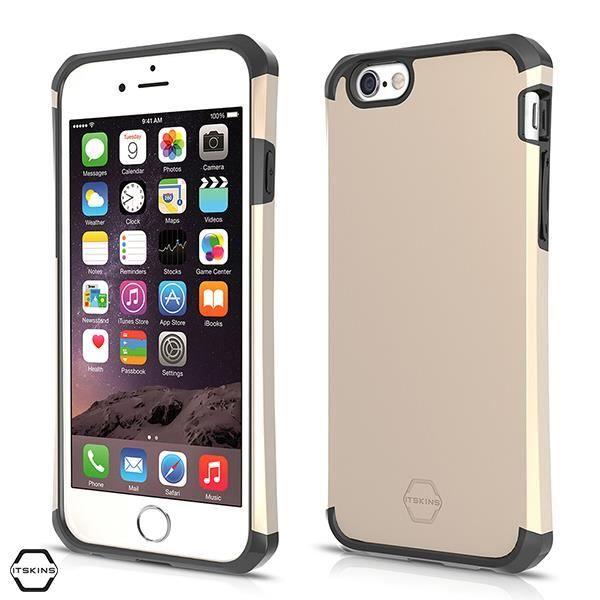 IT SKINS Coque évolution Métallic - iPhone6s+ - Or et Noir