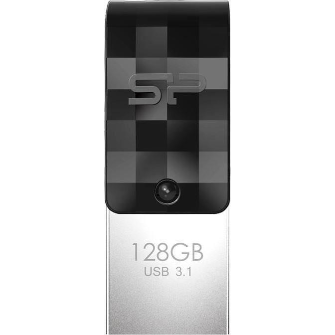 SILICON POWER Clé USB 3.1 C31 - 32 Go - Type-C - Métal - NoirCLE USB