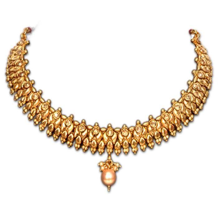 Femmes Designer plaqué or avec lensemble de collier de diamant pour etU53X0