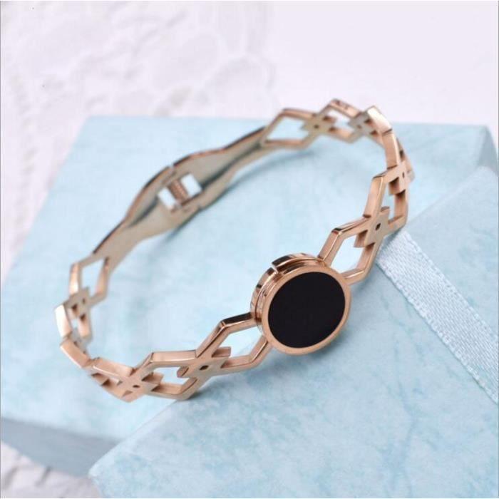 Bracelet 18K titane rose dor de la personnalité de création de Mme bracelet creux
