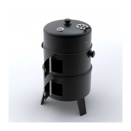 Barbecue BBQ rond américain Smoker fumoir bois ou charbon Stylashop