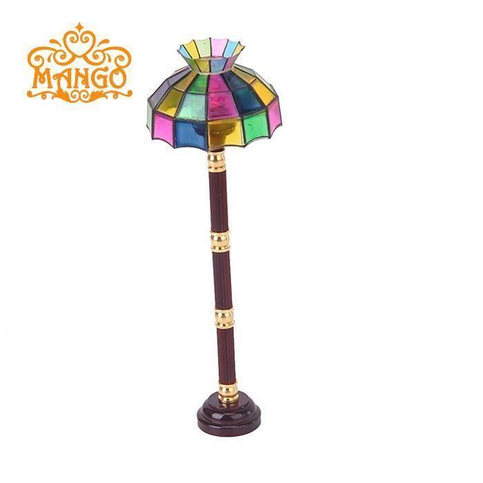 Modèle de lampadaire colorée en miniature  pour 1:12 Maison poupée Dollhouse
