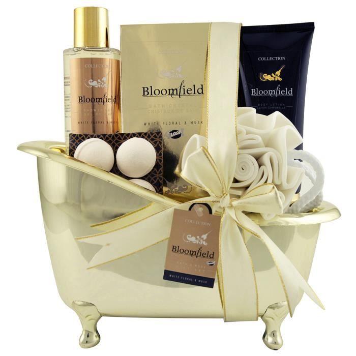 baignoire de bain bloomfield musk et fleurs blanches 8pc gloss achat vente coffret. Black Bedroom Furniture Sets. Home Design Ideas