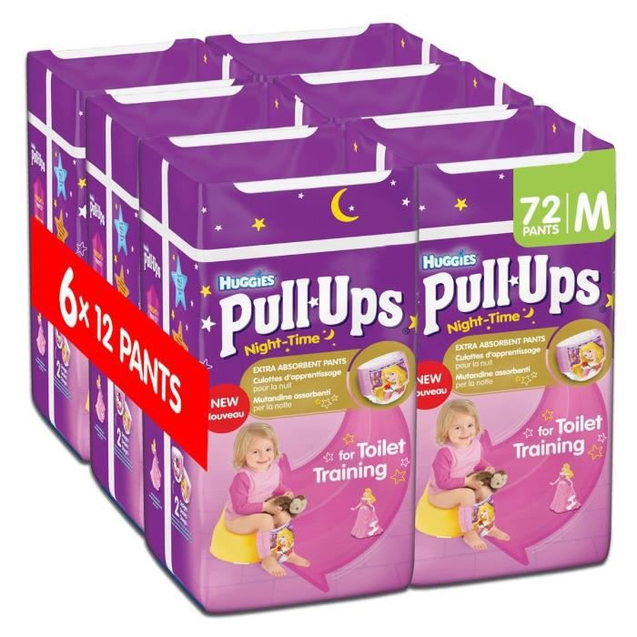 Huggies Pull Ups Couches Nuit Pour Fille Taille M 72 Couches