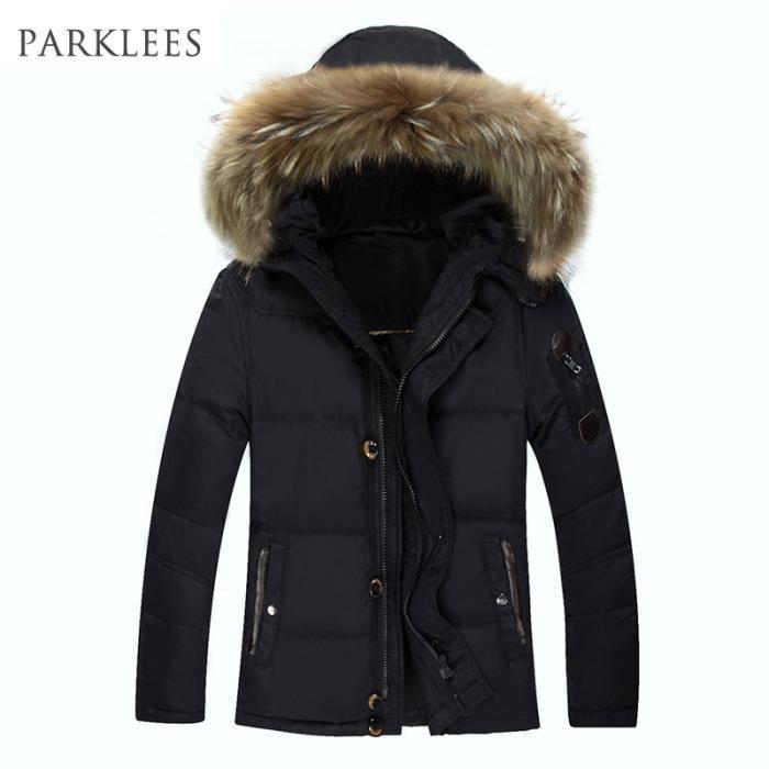 doudoune manteau homme noir marque luxe fourrur noir. Black Bedroom Furniture Sets. Home Design Ideas