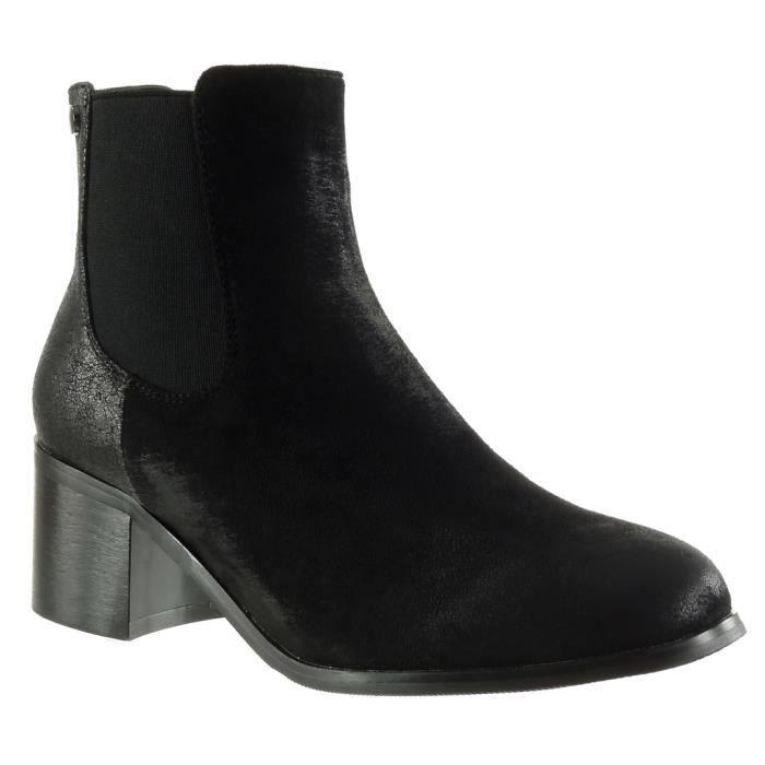 Mode Angkorly boots vieilli Bottine effet femme Chaussure chelsea 5xvRw