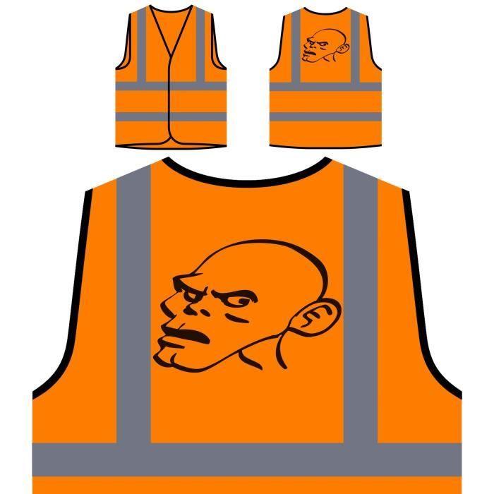 Visibilitéfashion Vintage Orange À Art Protection Personnal Personnalisée Man Funny Veste De City Haute D29WEHI