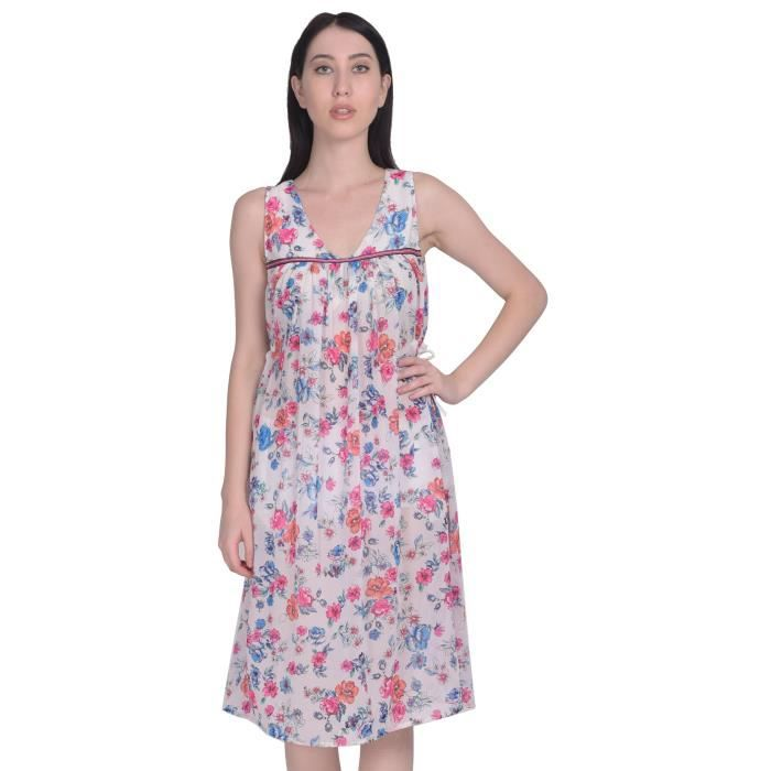 Womens Poly Georgette Floral Printed English Tunic 1YPMEP Taille-32