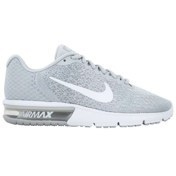 finest selection 3110a fd8ff BASKET NIKE Air max sequent femme 2 platine - blanc - gri