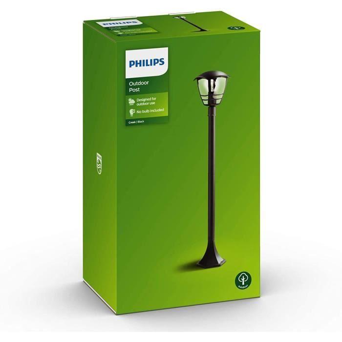 Philips Lampadaire Extérieur Creek 1X60W 230V - Noir - Achat