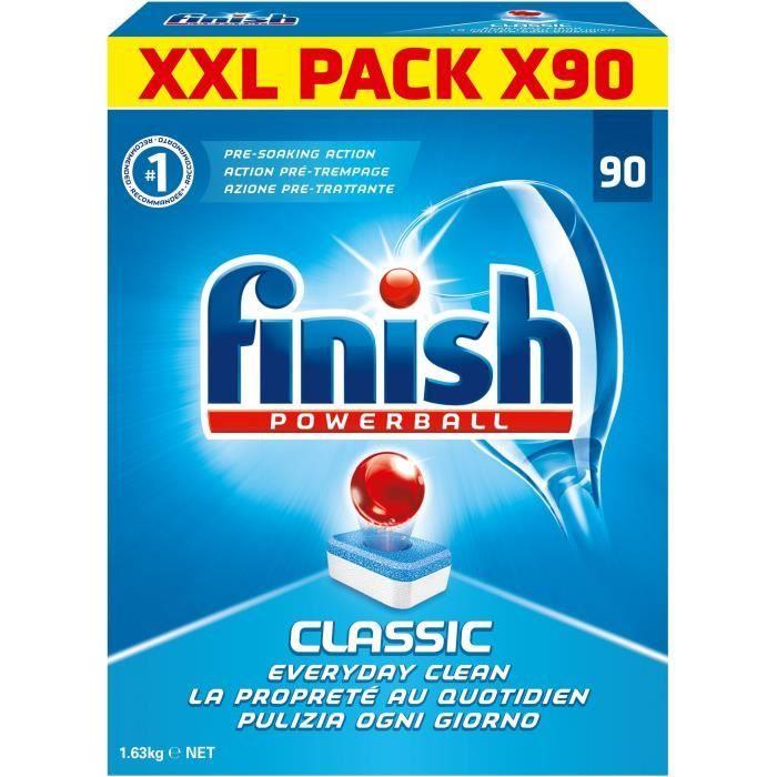 LIQUIDE LAVE-VAISSELLE FINISH CY2 Paquet de 90 tablettes pour lave-vaisse
