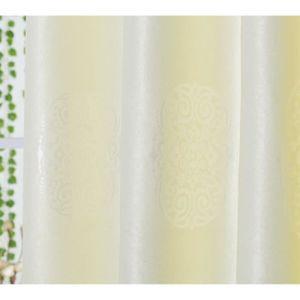 paire de rideaux blanc occultant achat vente pas cher. Black Bedroom Furniture Sets. Home Design Ideas