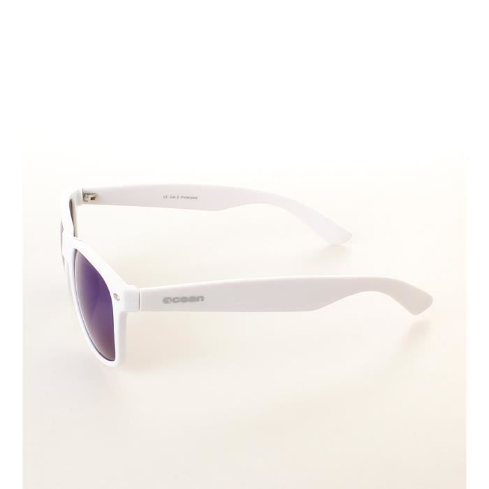 Plage lunettes de soleil Wayfarer lueur blanche