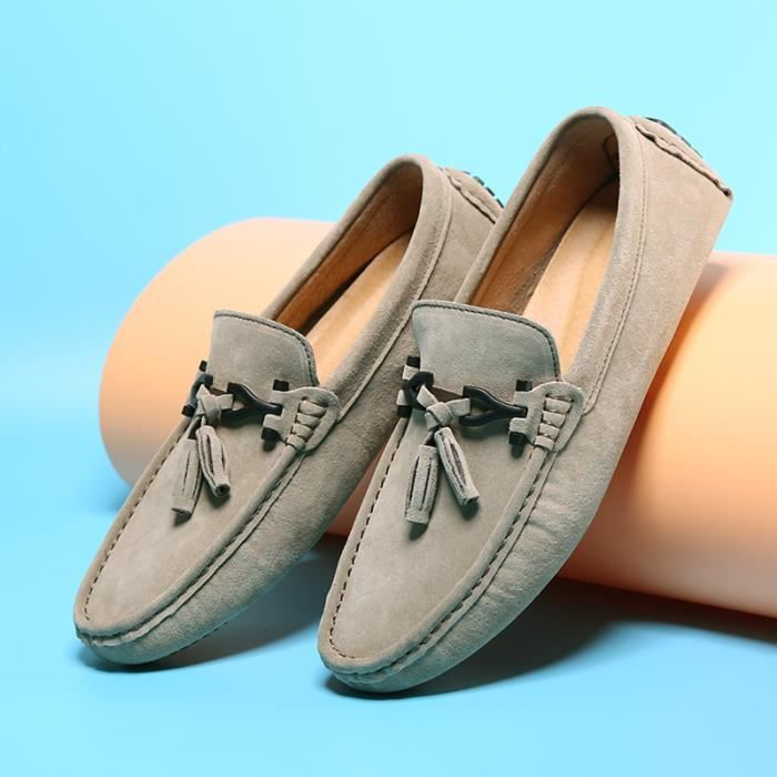 38 Style Pour Antidérapant à Femmes Femme Chinois gris Moccasin Plateformes Plus Chaussures 38 Moccasins Taille 44 5wUgIZxq