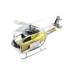 TIRE-BOUCHON Porte bouteille métal hélicoptère