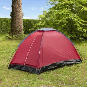 TENTE DE CAMPING Tente de camping Dôme - 2 places - Rouge