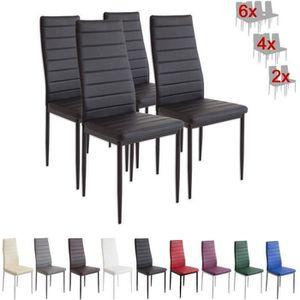 CHAISE Set de Set de 4 chaises Milano noir