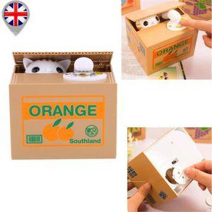 TIRELIRE Tirelire Mignon Orange Chat Monnaie Pièce Boîte En