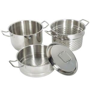 CUIT VAPEUR Set 4 pièces cuit pâtes vapeur en inox - Artmétal