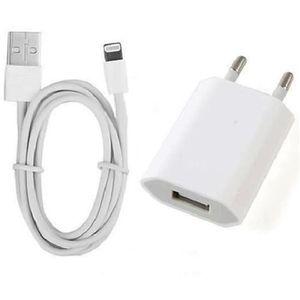 CÂBLE TÉLÉPHONE ROCK Chargeur Secteur et Cable USB pour iPhone 6/6