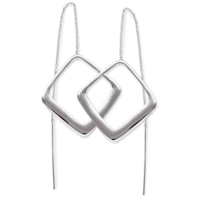 SF Bijoux - Boucles doreilles argent 925/1000e chainette forme losange(4,72 g) - (101680)