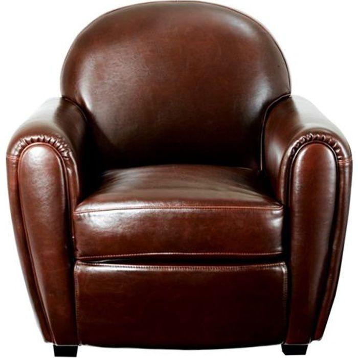 inwood fauteuil club en cuir marron Résultat Supérieur 50 Incroyable Fauteuil Cuir Fauve Photos 2017 Xzw1