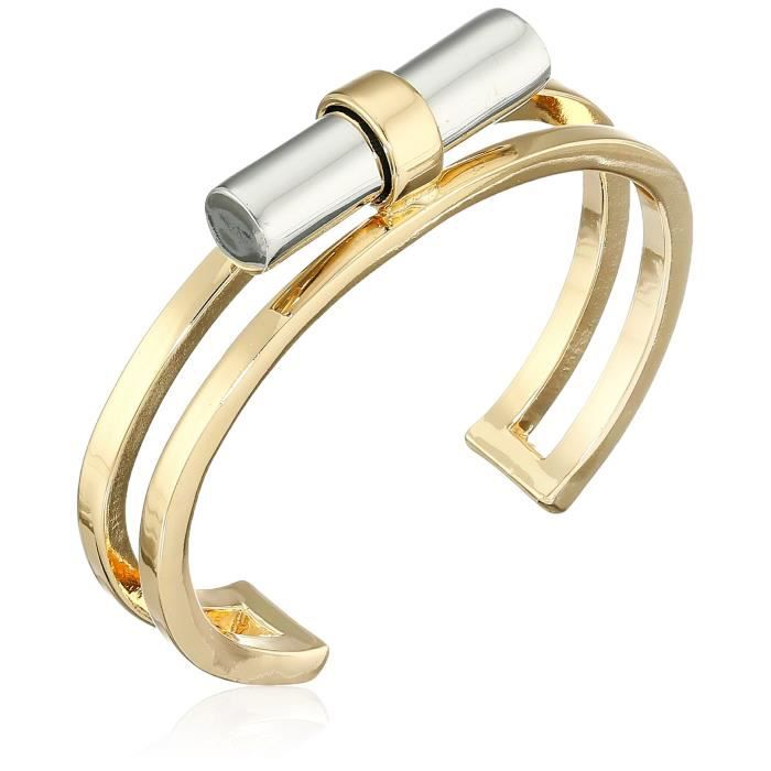 French Connection Tube Gold-rhodium Cuff Bracelet VHJH5