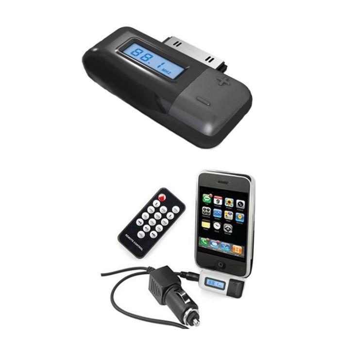 Transmetteur FM  iPhone / iPod Télécommande Noir