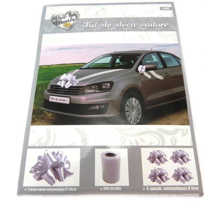kit decoration voiture mariage achat vente pas cher. Black Bedroom Furniture Sets. Home Design Ideas