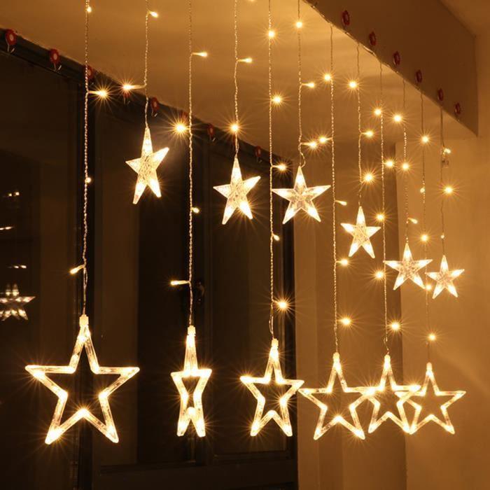 De Chaud Guirlande Led Noël Lampe Étoiles Décoration Électrique Chaîneblanc O0wPkn8