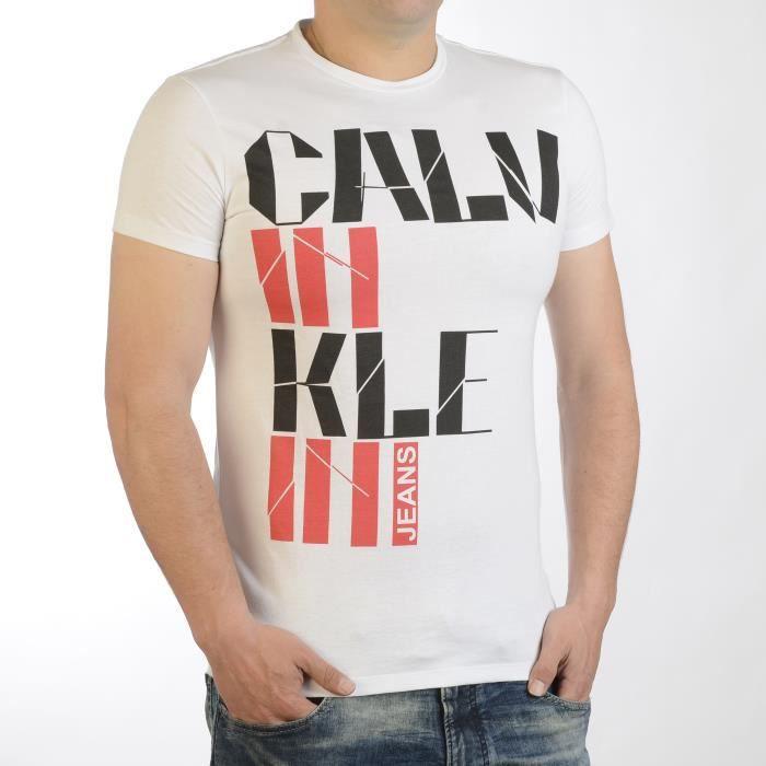 04ef22a08ba1 T-Shirt Calvin Klein Jeans Homme Manche Courte - Achat   Vente t ...