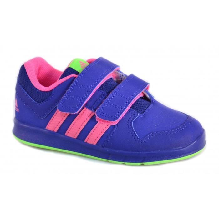 Fille Velcro Sport Adidas Chaussures Lk Petit Pour Cuir De n0wkXOPN8