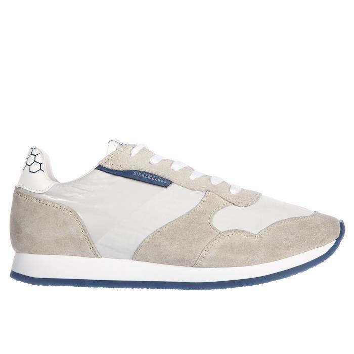 Chaussures baskets sneakers homme en daim endurance vintage Bikkembergs
