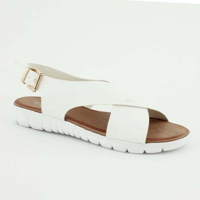 Sandales à brides croisée