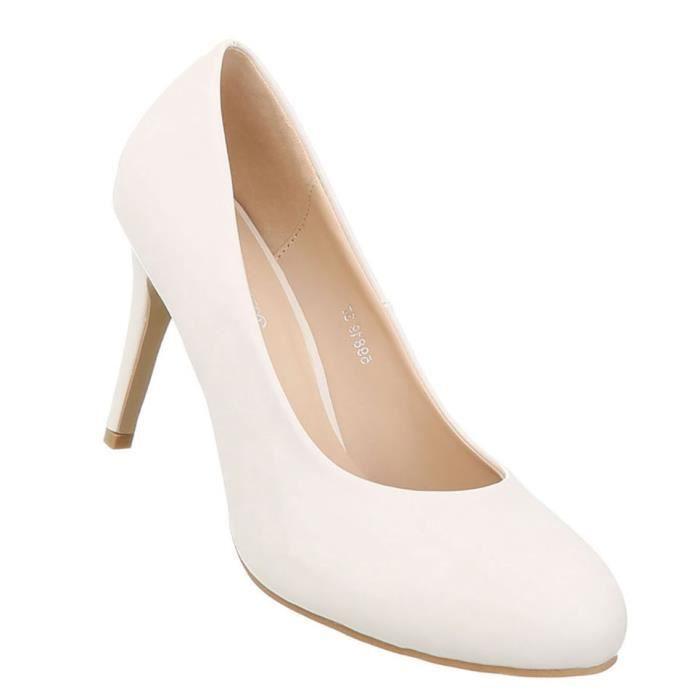 Chaussures femmes l'escarpin High Heels crème 41