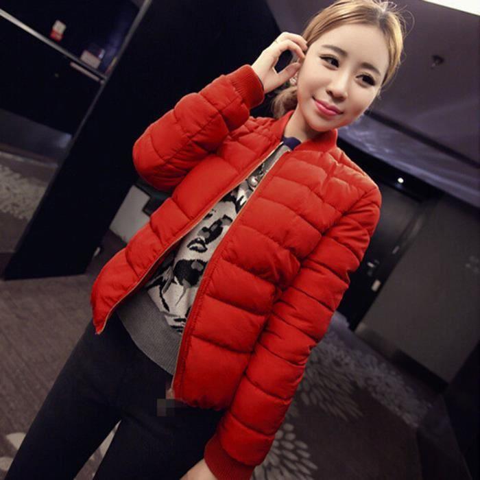 Veste Hiver Manteaux Mode Casual Rouge Dedasing® Manteau Chaud Parka Femme PYw0qS5px