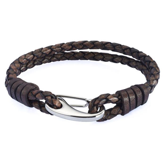 Rafaela Donata - Bracelet en cuir - Cuir véritable - Bijoux en cuir - En différentes longueurs, bijoux en cuir