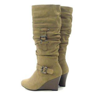 Robuste femmes hiver bottes doublé fausse fourrure femmes Boots camel 36 zlQpp