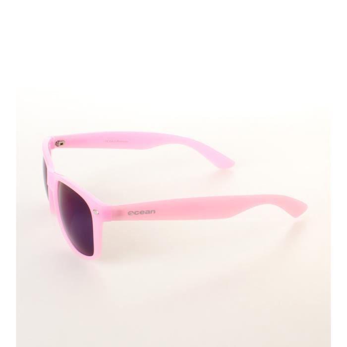 Plage lunettes de soleil Wayfarer paillettes rose