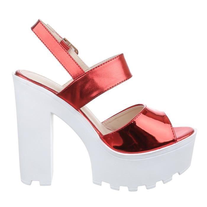 Femme chaussures sandales High Heels escarpin rouge 39 MbBRvj9rN