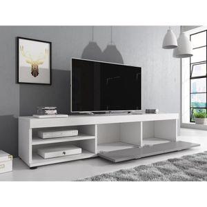 meuble tv gris et blanc achat vente meuble tv gris et blanc pas cher cdiscount. Black Bedroom Furniture Sets. Home Design Ideas
